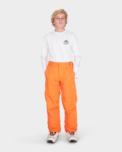 0 TEEN SNOW PANT Orange L6PB01S Billabong