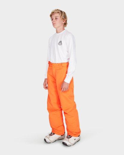 1 TEEN SNOW PANT Orange L6PB01S Billabong