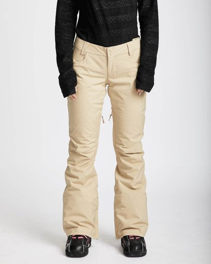 0 Terry 10K Stretch Snow Pants Beige L6PF02BIF8 Billabong