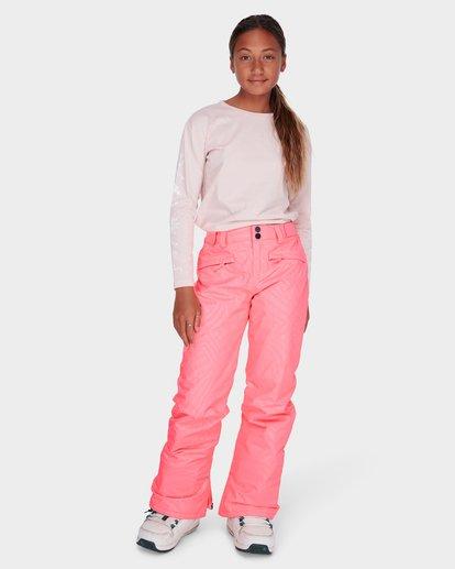 0 TEEN ALUE SNOW PANT Pink L6PG01S Billabong