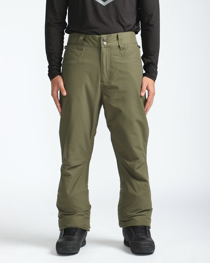 3 Outsider 10K Snow Pants Braun L6PM02BIF8 Billabong