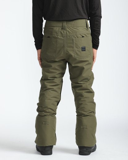 2 Outsider 10K Snow Pants Braun L6PM02BIF8 Billabong