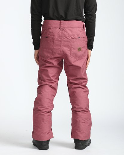6 Outsider 10K Snow Pants Marron L6PM02BIF8 Billabong