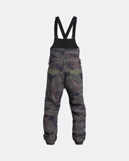 2 North West Bib 45K Stretch Snow Pants Gemustert L6PM05BIF8 Billabong