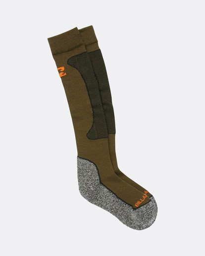 1 Compass Premium Merino Snow Socks Braun L6SO03BIF8 Billabong