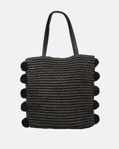 1 Palms Up Large Straw Tote Bag Negro L9BG09BIF8 Billabong