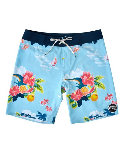 "0 Sundays Airlite Hawaii Boardshort 19"" Blue M1033BSD Billabong"