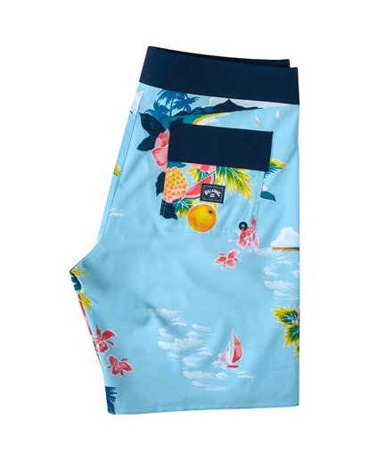 "3 Sundays Airlite Hawaii Boardshort 19"" Blue M1033BSD Billabong"
