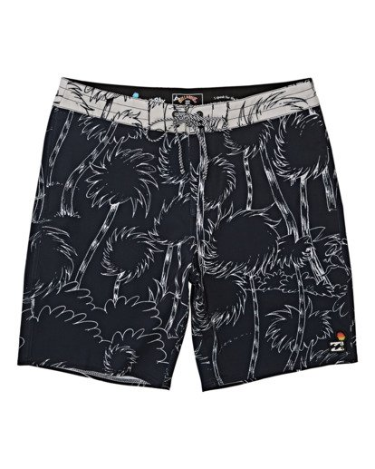 0 Lorax Sundays Lo Tides Boardshorts Black M1132BLS Billabong
