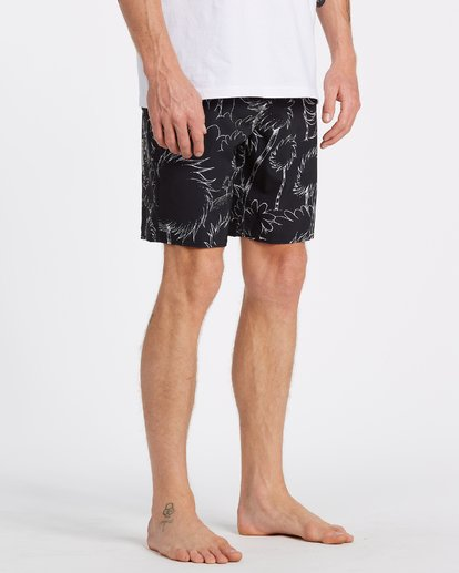 4 Lorax Sundays Lo Tides Boardshorts Black M1132BLS Billabong