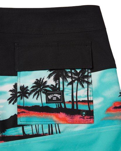 "6 Tribong Pro Boardshorts 19"" Blue M1201BTB Billabong"
