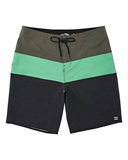 0 Tribong Pro Solid Boardshorts Green M1211BTS Billabong