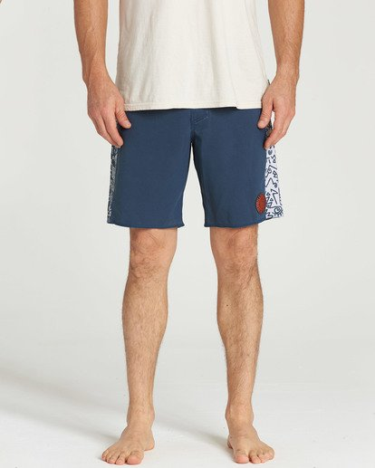 4 D Bah Pro Boardshorts Blue M121TBSP Billabong