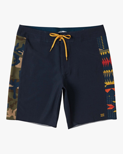 "0 D Bah Pro Boardshorts 19"" Blue M1221BSP Billabong"
