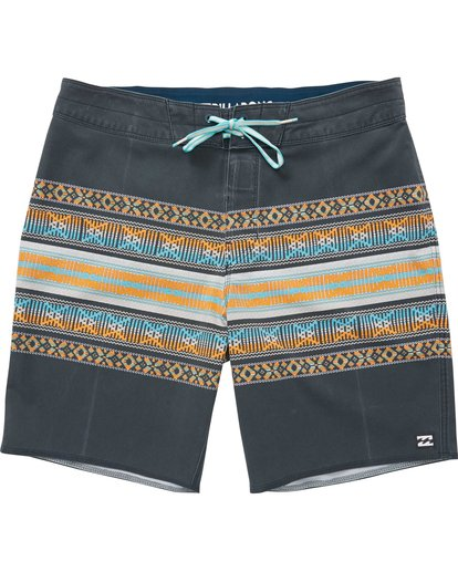 0 Sundays X Stripe Boardshorts Grey M123QBSS Billabong