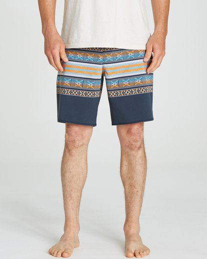 3 Sundays X Stripe Boardshorts Grey M123QBSS Billabong