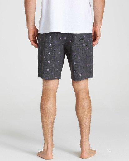 5 Sundays X Mark Printed Performance Boardshorts Grey M123SBSM Billabong