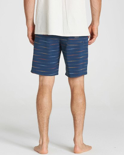 5 Sundays X Mark Printed Performance Boardshorts Blue M123SBSM Billabong
