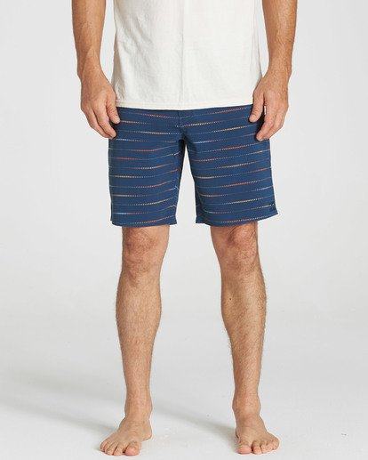4 Sundays X Mark Printed Performance Boardshorts Blue M123SBSM Billabong