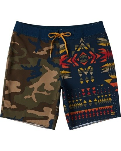 "0 Sundays Interchange Pro Boardshorts 19"" Yellow M1241BSI Billabong"