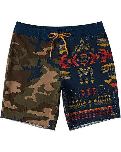 "1 Sundays Interchange Pro Boardshorts 19"" Yellow M1241BSI Billabong"
