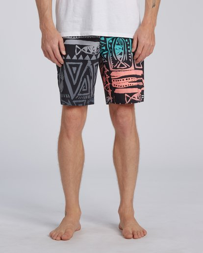 "6 Sundays Interchange Pro Boardshorts 19"" Red M1241BSI Billabong"