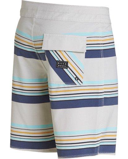 3 Sundays Stripe Pro Boardshorts Grey M124TBSS Billabong