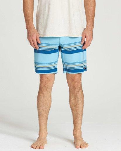4 Sundays Stripe Pro Boardshorts Blue M124TBSS Billabong