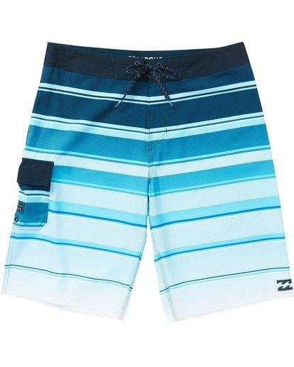 0 All Day X Stripe Boardshorts Blue M125NBAS Billabong