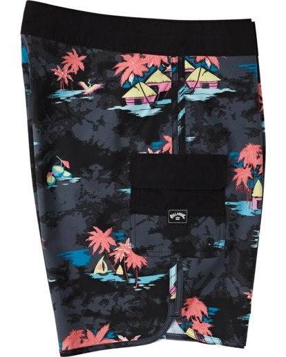"2 73 Line Up Pro Boardshorts 19"" Black M1261BSL Billabong"