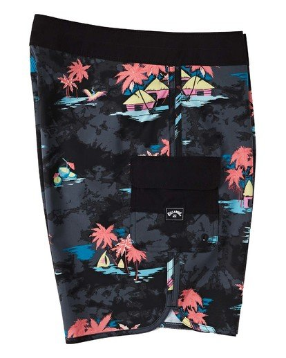 "5 73 Line Up Pro Boardshorts 19"" Black M1261BSL Billabong"