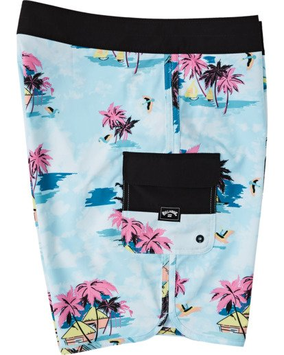 "2 73 Line Up Pro Boardshorts 19"" Green M1261BSL Billabong"