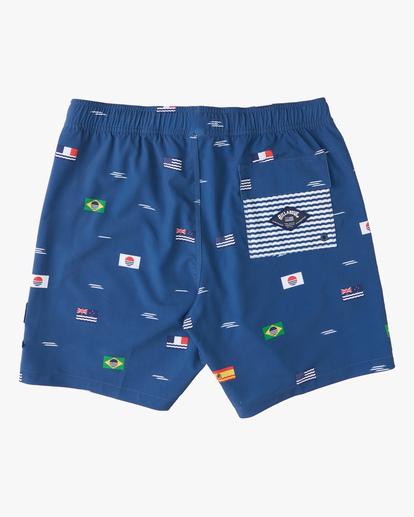 """1 Surfrider USOA Flag Layback Boardshorts 17"""" Brown M1263BLB Billabong"""