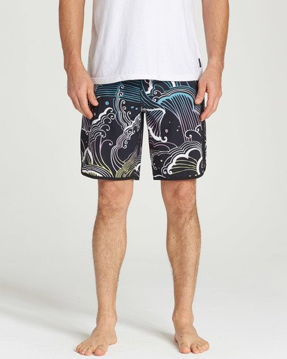 4 73 Line Up Pro Boardshorts Black M126TBSL Billabong