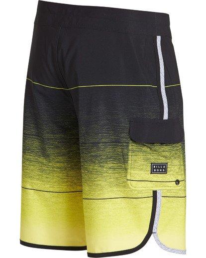 3 73 Stripe Pro Boardshorts Yellow M127TBST Billabong