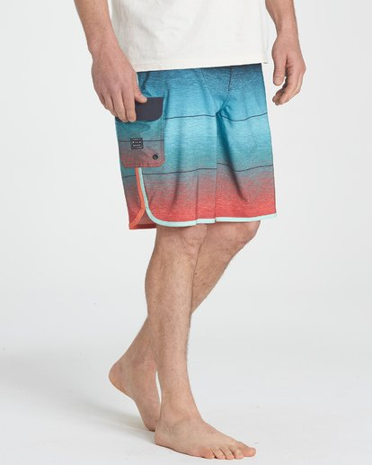 4 73 Stripe Pro Boardshorts Green M127TBST Billabong