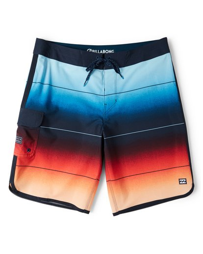 0 73 Stripe Pro Boardshorts Red M127VBST Billabong