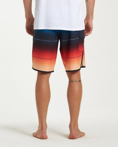 9 73 Stripe Pro Boardshorts Red M127VBST Billabong