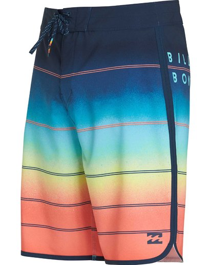 1 73 X Stripe Boardshorts Orange M129NBSS Billabong