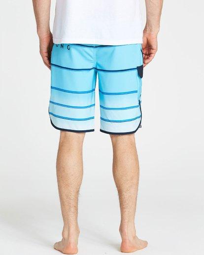 4 73 X Stripe Boardshorts Blue M129NBSS Billabong