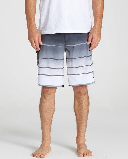 4 73 X Stripe Boardshorts Grey M129NBSS Billabong