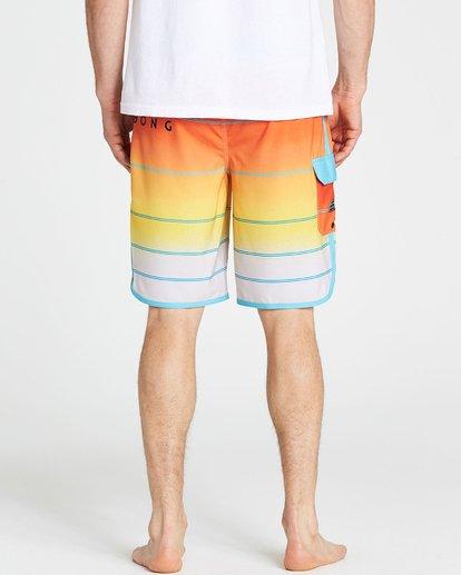 4 73 X Stripe Boardshorts Yellow M129NBSS Billabong