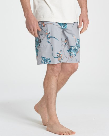 4 All Day Floral Pro Boardshorts Grey M132TBAF Billabong