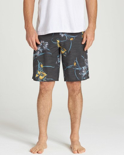 4 All Day Floral Pro Boardshorts Black M132TBAF Billabong