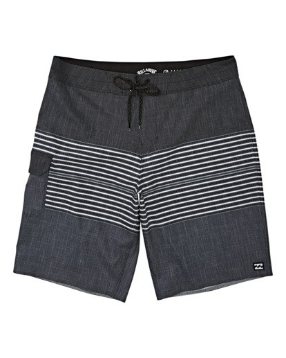 "0 All Day Heather Stripe Pro Boardshort 20"" Black M1331BHP Billabong"