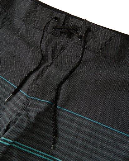 4 All Day Heather Stripe Pro Boardshorts Black M1331BHP Billabong