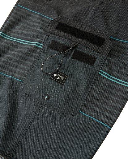 6 All Day Heather Stripe Pro Boardshorts Black M1331BHP Billabong