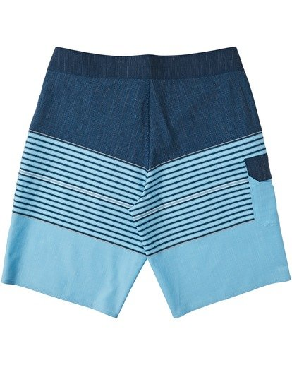 "1 All Day Heather Stripe Pro Boardshort 20"" Blue M1331BHP Billabong"