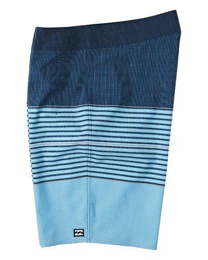 "2 All Day Heather Stripe Pro Boardshort 20"" Blue M1331BHP Billabong"