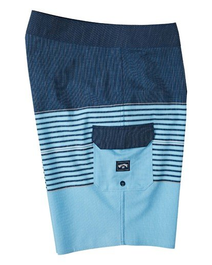 "3 All Day Heather Stripe Pro Boardshorts 20"" Blue M1331BHP Billabong"